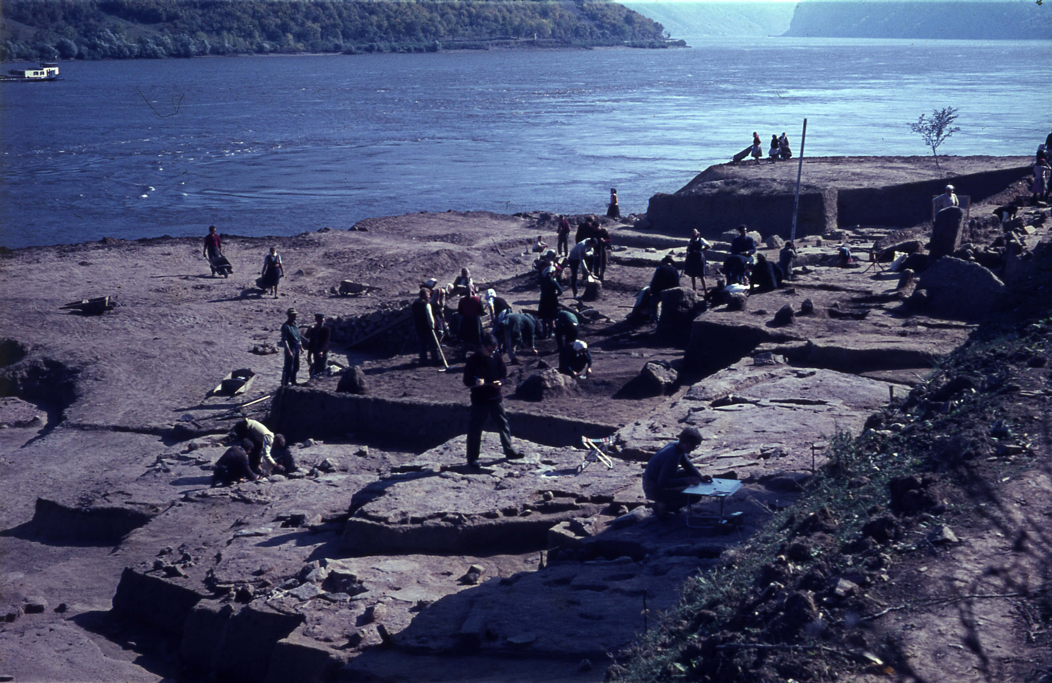 Archaeological research at Lepenski Vir in 1968 (National Museum in Belgrade)