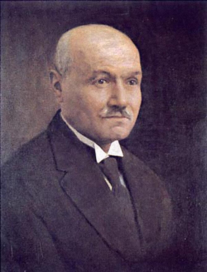 Portrait of Mihailo Petrović Alas (by Uroš Predić, oil on canvas, Belgrade, 1943 – Library of SASA)