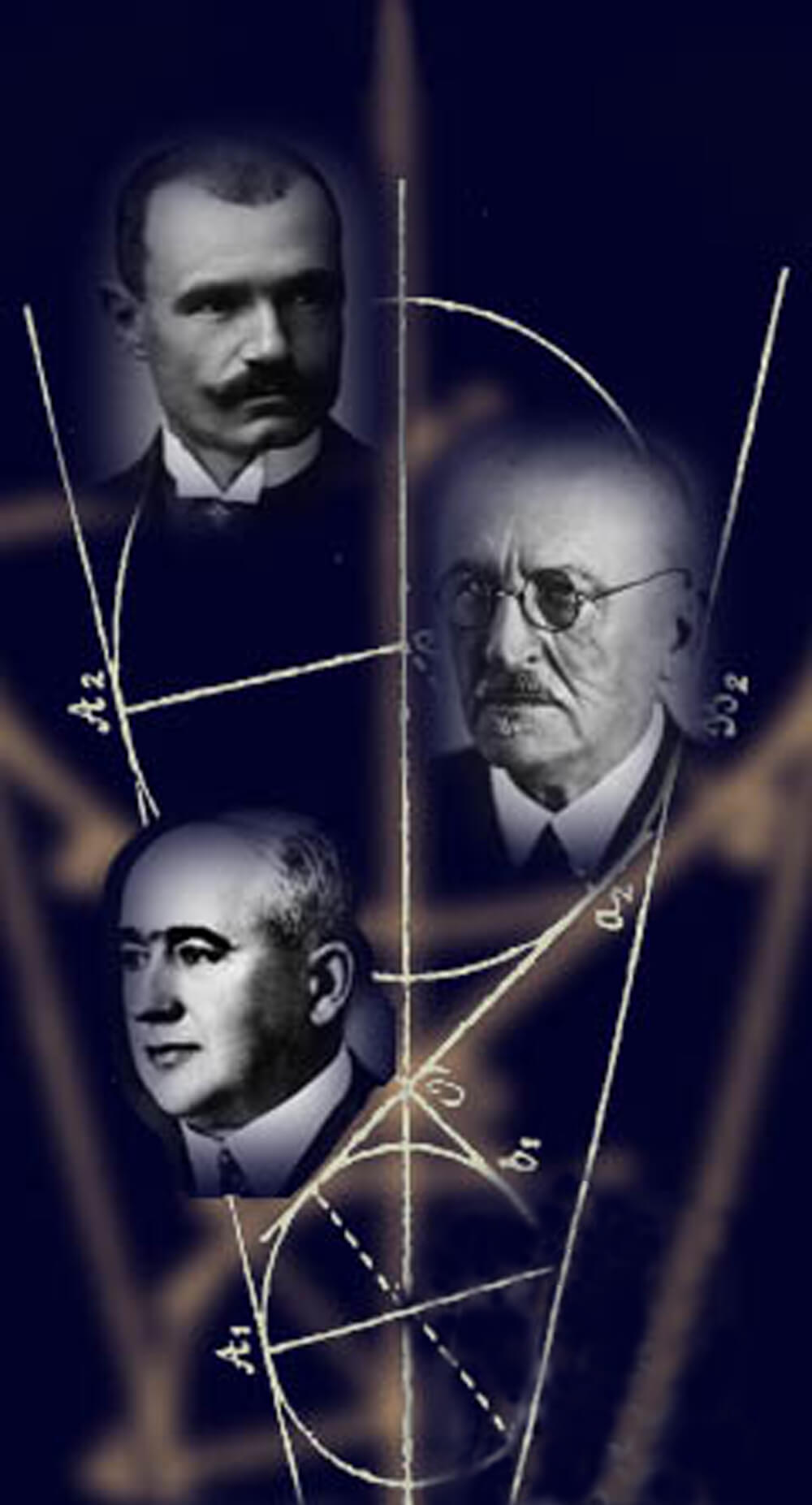Academicians Mihailo Petrović, Bogdan Gavrilović and Milutin Milanković (Faculty of Mathematics, University of Belgrade)