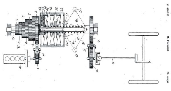 The sketch of a automobile gear – patent no. 476.320 (Espacenet European Patent Office, FR476320 A)